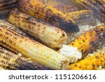 grilled corn being cooked in... | Shutterstock . vector #1151206616