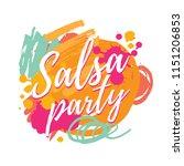 salsa party vector logotype.... | Shutterstock .eps vector #1151206853