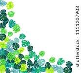 teal green tropical jungle... | Shutterstock .eps vector #1151207903