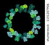 aquamarine tropical jungle... | Shutterstock .eps vector #1151207906