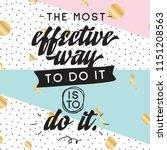 inspirational quote  motivation.... | Shutterstock .eps vector #1151208563