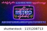 80s  retro alphabet font banner ... | Shutterstock .eps vector #1151208713