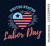 happy labor day. vector logo.... | Shutterstock .eps vector #1151209919