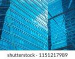 bottom up view of modern office ... | Shutterstock . vector #1151217989