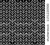 Stock vector black and white chevron hand drawn herringbone seamless pattern 1151220500