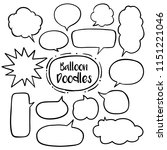 speech bubble with hand drawn... | Shutterstock .eps vector #1151221046