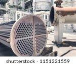 heat exchanger shell and tube...   Shutterstock . vector #1151221559
