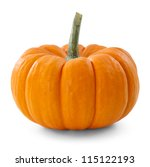 Pumpkin Over White Background