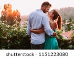 Stock photo young couple in love enjoying their honeymoon 1151223080