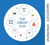 set of analytics icons flat... | Shutterstock .eps vector #1151225390
