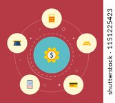 set of finance icons flat style ... | Shutterstock .eps vector #1151225423