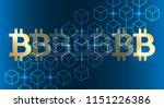blockchain bitcoin background.... | Shutterstock .eps vector #1151226386