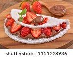 tapioca filled with hazelnut... | Shutterstock . vector #1151228936