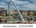 gateshead england on the 1st... | Shutterstock . vector #1151229389
