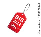 big sale 50 percent off red tag ... | Shutterstock .eps vector #1151230949