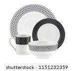 cookware set  dishware set... | Shutterstock . vector #1151232359