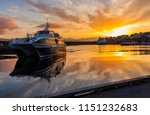 sunset when leaving from nolsoy ... | Shutterstock . vector #1151232683
