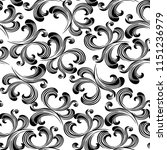 vector damask pattern element... | Shutterstock .eps vector #1151236979