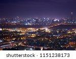 scenic of night urban cityscape ...   Shutterstock . vector #1151238173