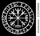 scandinavian ornament with... | Shutterstock .eps vector #1151240606