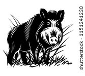 vector monochrome illustration... | Shutterstock .eps vector #1151241230