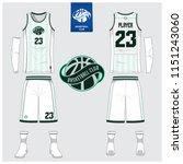 basketball jersey or sport... | Shutterstock .eps vector #1151243060