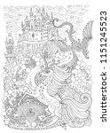 fantasy landscape with dragon... | Shutterstock .eps vector #1151245523