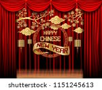 happy chinese new year  paper... | Shutterstock .eps vector #1151245613