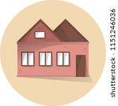 house flat illustration  flat... | Shutterstock .eps vector #1151246036