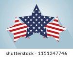 america style star vector | Shutterstock .eps vector #1151247746