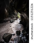 ouray box canyon waterfall   Shutterstock . vector #1151251226