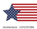 america style star vector | Shutterstock .eps vector #1151251586