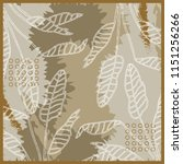 abstract silk scarf with palm... | Shutterstock .eps vector #1151256266