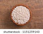 tapioca pearls bowl on wooden... | Shutterstock . vector #1151259143