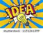 concept of idea. light bulb in... | Shutterstock .eps vector #1151261399