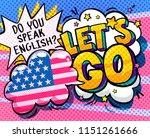 concept of studing english. do... | Shutterstock .eps vector #1151261666