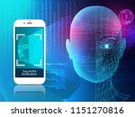 robot. artificial intelligence. ... | Shutterstock .eps vector #1151270816