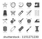 needlework silhouette icons set.... | Shutterstock .eps vector #1151271230