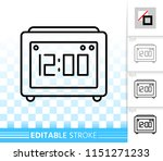 clock thin line icon. outline...