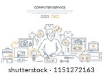 computer service   line design...   Shutterstock .eps vector #1151272163