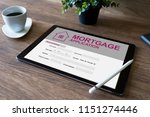 online mortgage application on...   Shutterstock . vector #1151274446