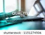 quality assurance. control and... | Shutterstock . vector #1151274506