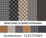 modern take on vintage ceramic... | Shutterstock .eps vector #1151274569