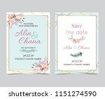 geometry gold wedding... | Shutterstock .eps vector #1151274590