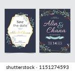 geometry gold wedding... | Shutterstock .eps vector #1151274593