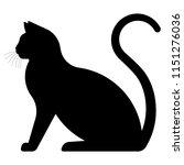 Black Cat. Silhouette Of A...