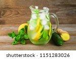 sassy water. fresh cool water... | Shutterstock . vector #1151283026
