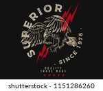 superior eagle graphic tee | Shutterstock .eps vector #1151286260