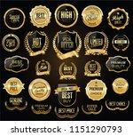super sale retro golden badges... | Shutterstock .eps vector #1151290793