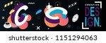 c letter creative design... | Shutterstock .eps vector #1151294063